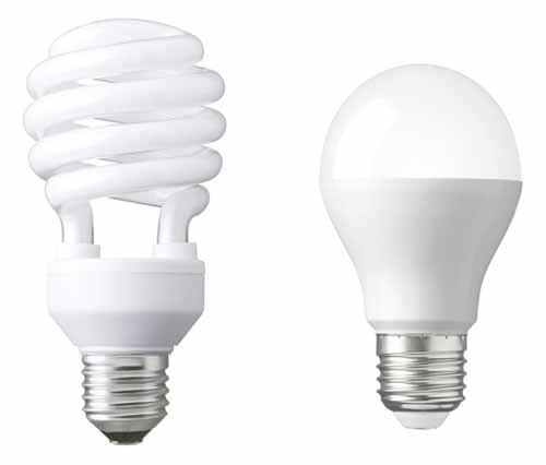 fluorescent and LED lights
